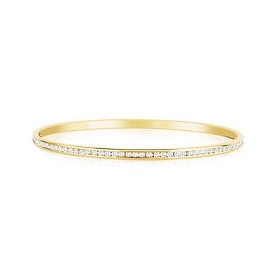 bracelet jonc plaqu or cristaux swarovski femme bracelet rigide maty. Black Bedroom Furniture Sets. Home Design Ideas