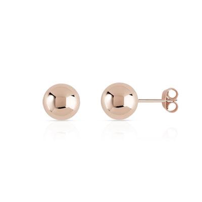 Boucles d'oreilles plaque or rose