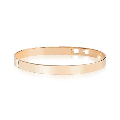 Bracelet jonc plaqué or rose , vue V1