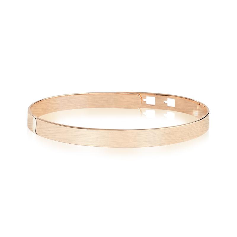 bracelet jonc plaqu or rose femme bracelet rigide maty. Black Bedroom Furniture Sets. Home Design Ideas