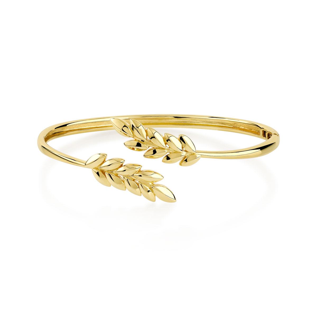 Bracelet jonc plaqué or 60 mm