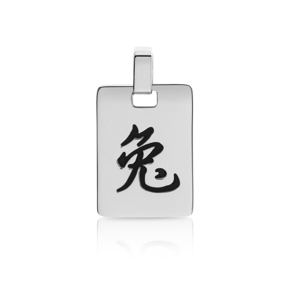 Pendentif zodiaque chinois lapin argent 925