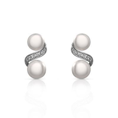 Boucles d'oreilles perles de culture et argent