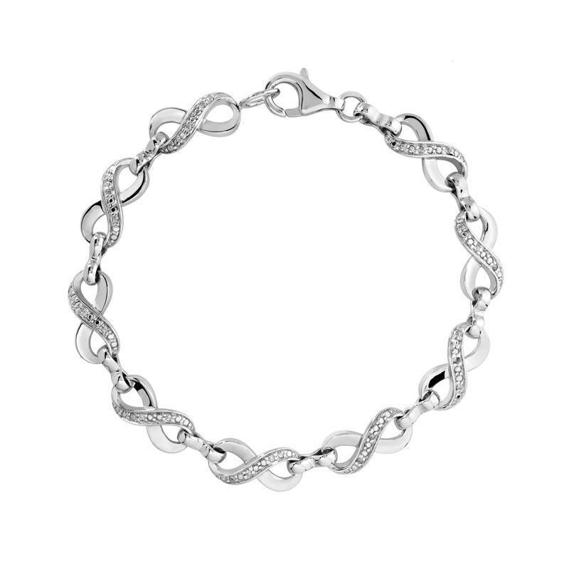 bracelet argent 925 zirconia femme bracelet maille souple maty. Black Bedroom Furniture Sets. Home Design Ideas