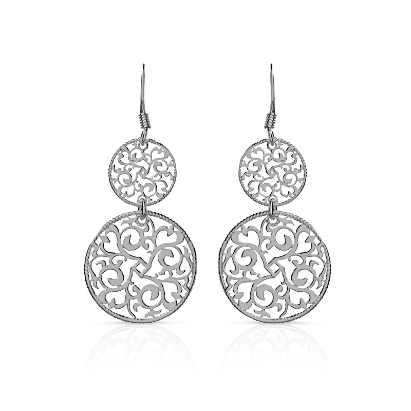 boucles d 39 oreilles argent 925 femme pendants maty. Black Bedroom Furniture Sets. Home Design Ideas