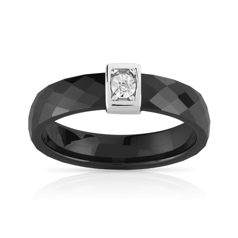 Bague argent 925 c ramique diamant femme bague maty - Bague en ceramique ...