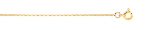 Chaine maille gourmette plaqué or 45 cm