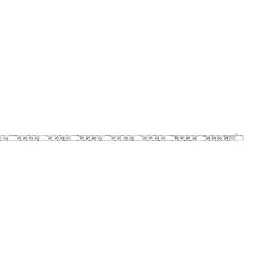 Collier maille cheval alternée argent 925 50 cm