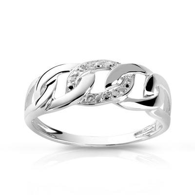 Bague argent 925 diamant