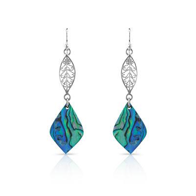 Boucles d oreilles argent 925 nacre abalone - Femme - Pendants   MATY ef5491b41e5e