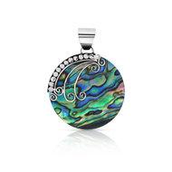 Pendentif argent 925 nacre abalone