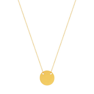 Collier or 375 jaune - vue D1