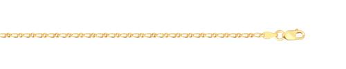 Chaine or 375 jaune 50 cm