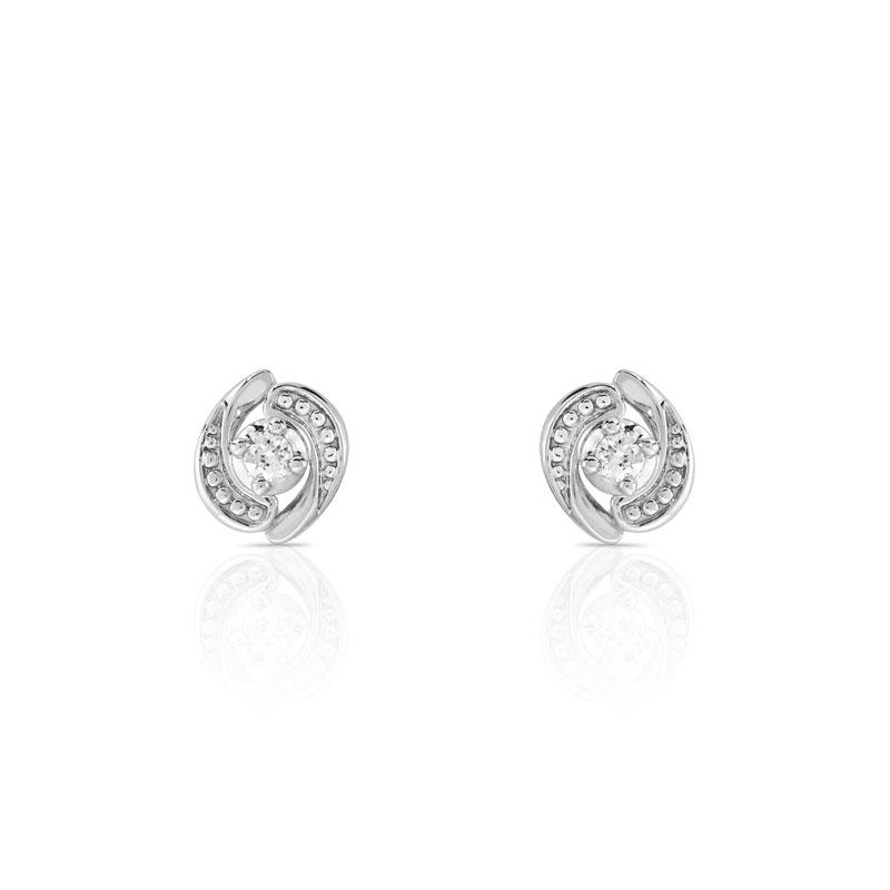 diamond earrings boucles d 39 oreilles diamant et or blanc. Black Bedroom Furniture Sets. Home Design Ideas