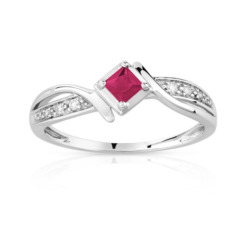 black diamond ring bague or blanc rubis et diamants. Black Bedroom Furniture Sets. Home Design Ideas