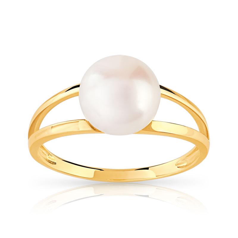 bague or 375 jaune perle de culture de chine femme bague maty. Black Bedroom Furniture Sets. Home Design Ideas