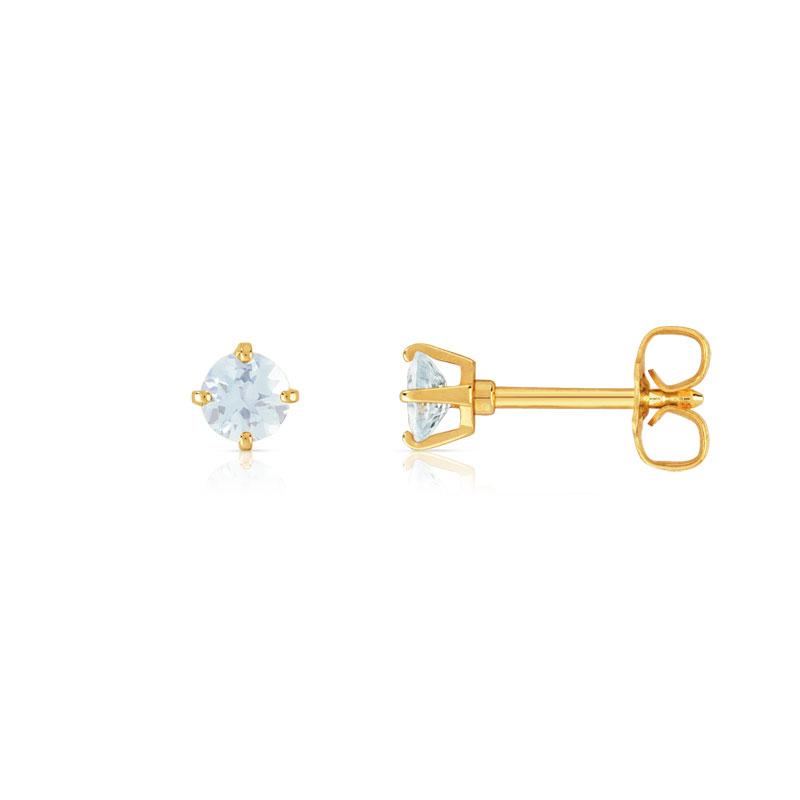 Boucles d`Oreilles Clous Doré Puces Fleur Bleu Marine Ancien Style Vintage NN 3