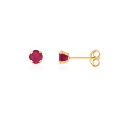 boucles d 39 oreilles or 375 jaune rubis femme clous d 39 oreilles maty. Black Bedroom Furniture Sets. Home Design Ideas