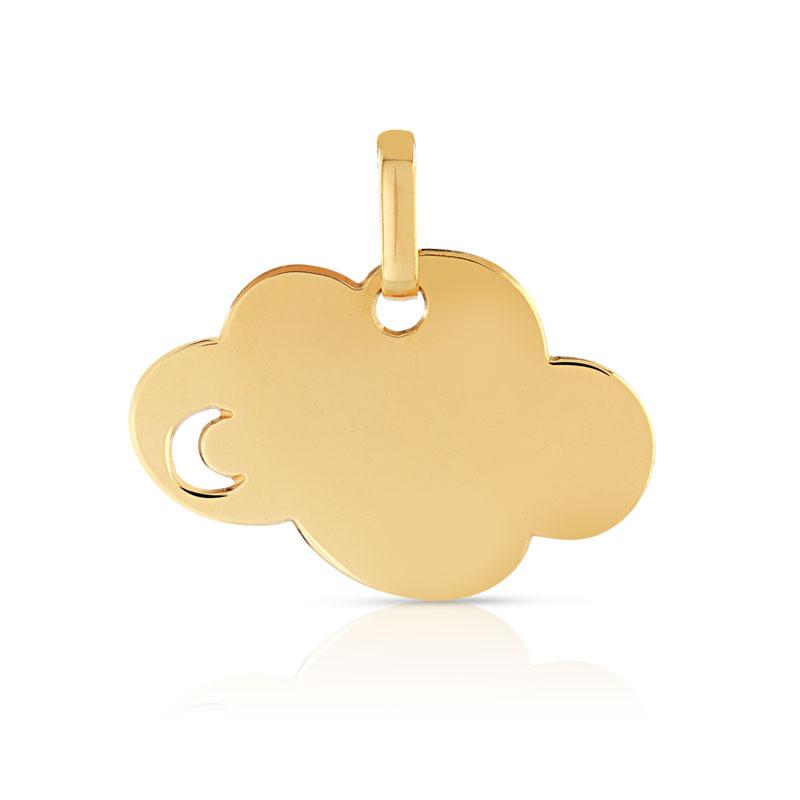 Top Medaille or bapteme, pendentif ange or, pendentif or enfant FV54