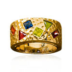 Bague plaqué or pierre imitation