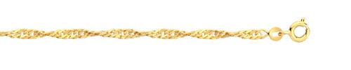 Chaine torsade plaqué or 60 cm