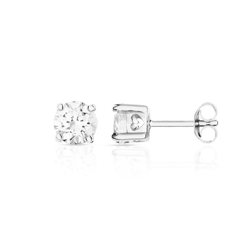 10 mm ou 3Ct Boucles d/'oreilles pierres zircon en argent sterling .925