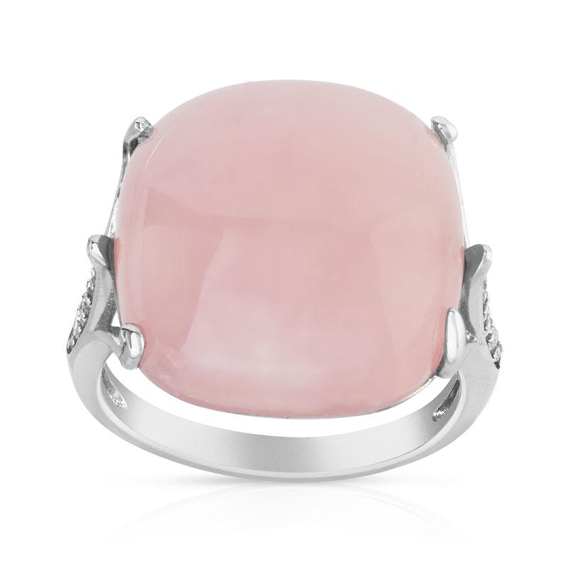 bague argent 925 quartz rose femme bague maty. Black Bedroom Furniture Sets. Home Design Ideas