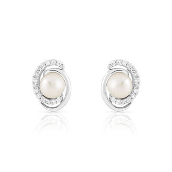 f996f715ebe Boucles d oreilles argent 925 perle de culture zirconia