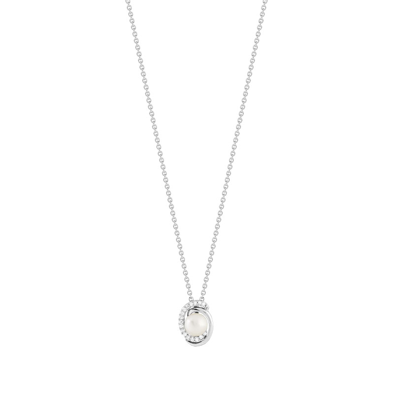 collier argent 925 perle de culture zirconia femme collier maty. Black Bedroom Furniture Sets. Home Design Ideas