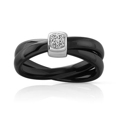 bague argent 925 c ramique diamant femme bague bijoux sur internet maty. Black Bedroom Furniture Sets. Home Design Ideas