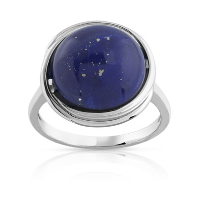 bague argent 925 lapis lazuli femme bague maty. Black Bedroom Furniture Sets. Home Design Ideas