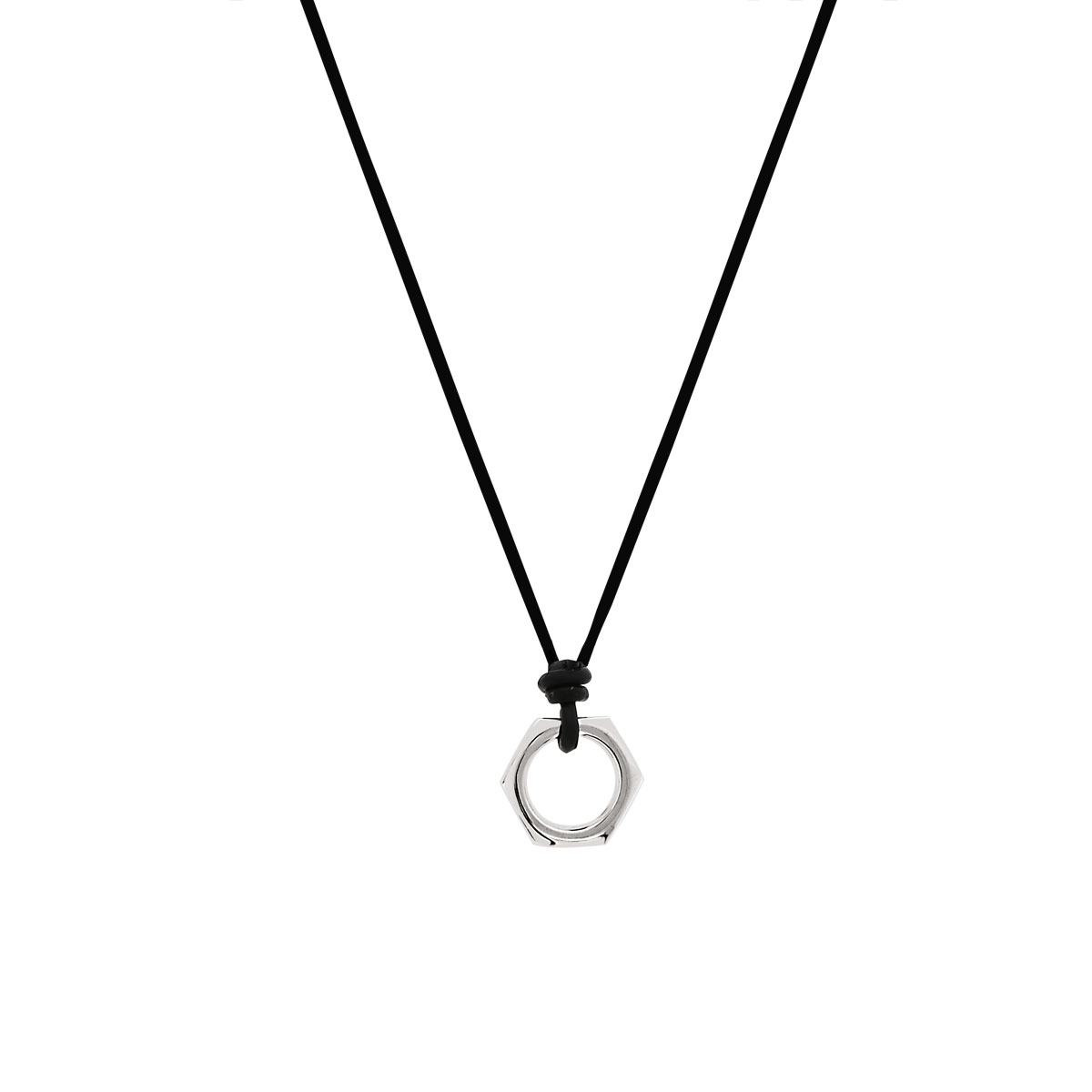 Collier cordon argent diamant 50 cm