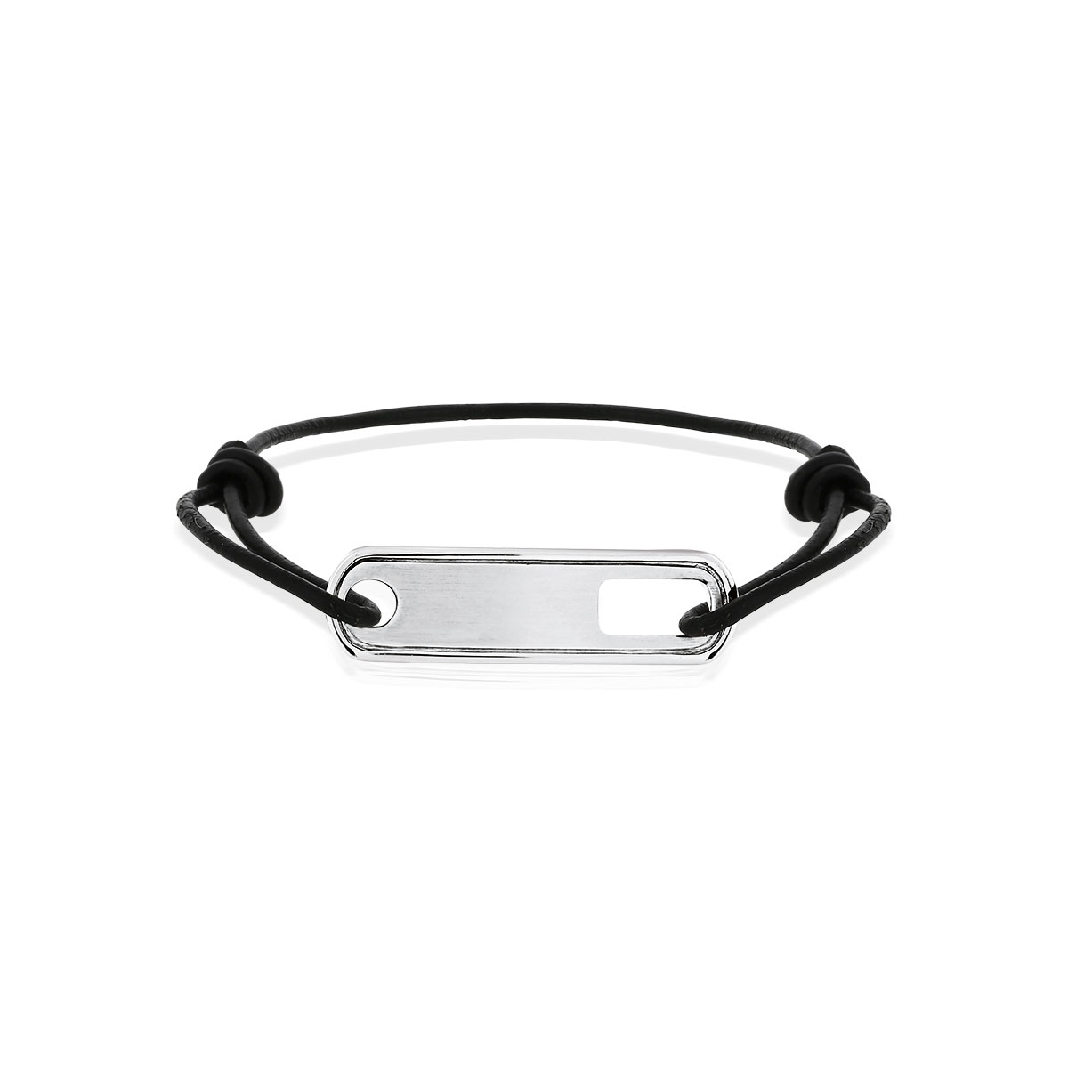 bracelet cuir argent homme
