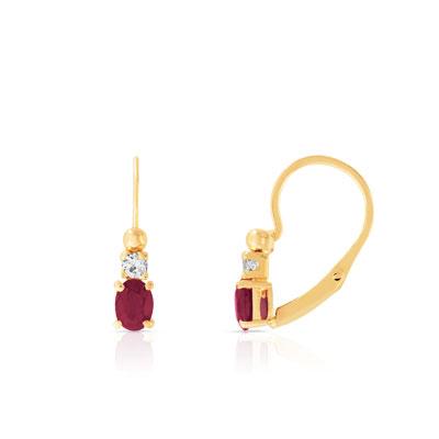 Boucles d'oreilles or 750