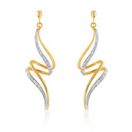 Boucles d'oreilles or 750 2 tons diamant