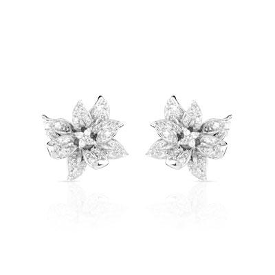 boucles d oreilles or 750 blanc diamant femme clous d 39 oreilles maty. Black Bedroom Furniture Sets. Home Design Ideas