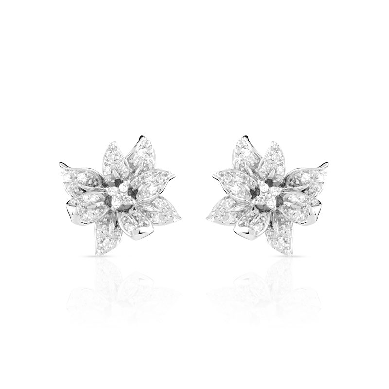 boucles d oreilles or 750 blanc diamant femme clous d 39 oreilles maty. Black Bedroom Furniture Sets. Home Design Ideas