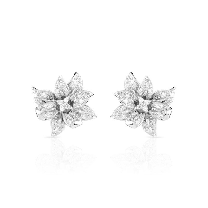 plus récent 7a6c8 c0954 Boucles d oreilles or 750 blanc diamant