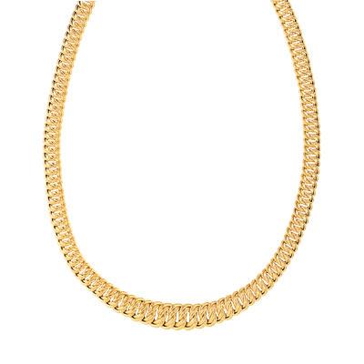 Ce collier câble pour femme en titane et en 3 ors 18 carats / millièmes est aussi moderne que sophistiqué. Ce triple collier allie la finesse de l'or jaune, gris et rose à la force du titane. Avec ce cadeau design, vous pouvez être certain de faire plaisir à l'occasion d'un anniversaire par exemple.