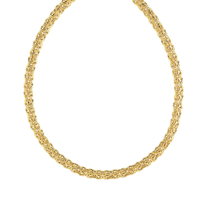 Collier or 750 jaune maille royale - vue 1