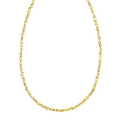Collier or 750 jaune - vue 1