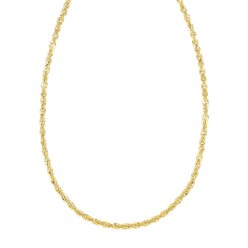 Collier or 750 jaune - vue V1