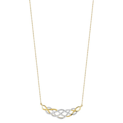Collier or 750 2 tons diamant - vue 1