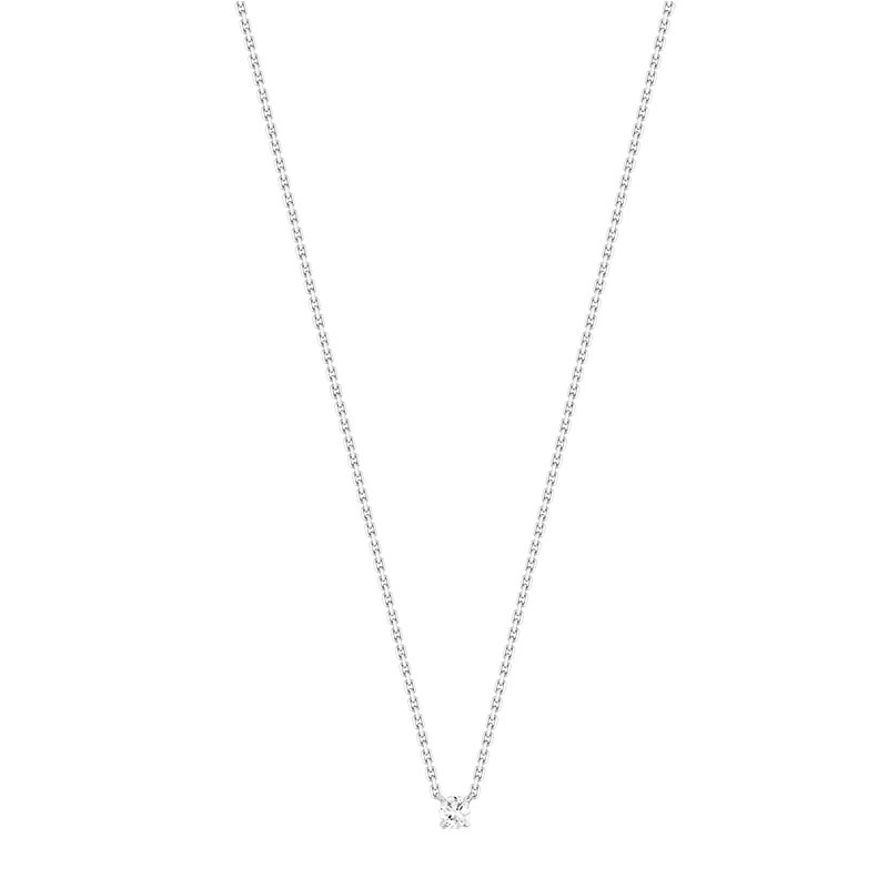Collier or 750 blanc diamant - vue V1