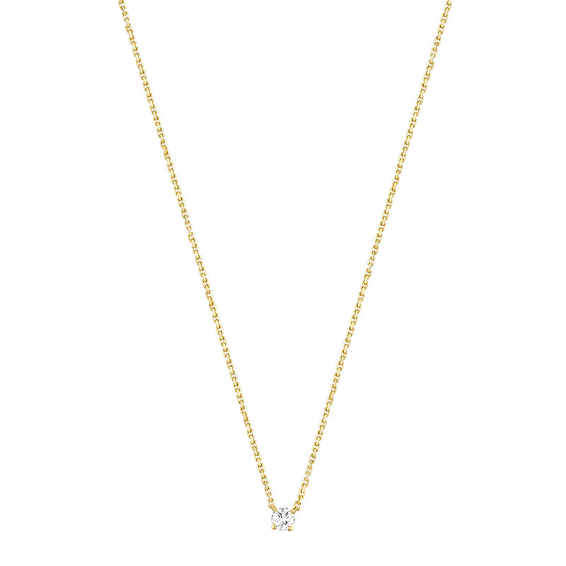 Collier or 750 jaune diamant - vue V1