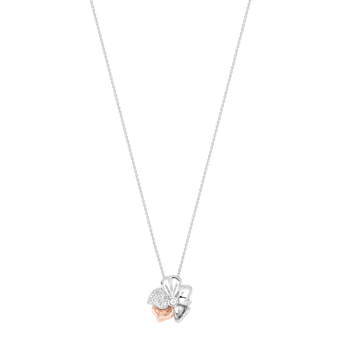 Collier 2 ors 750 diamant - vue V1