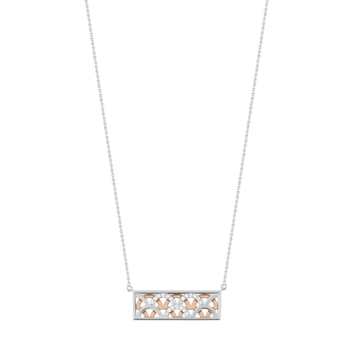Collier 2 ors 750 diamant