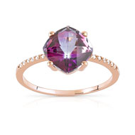 Bague or 375 rose topaze