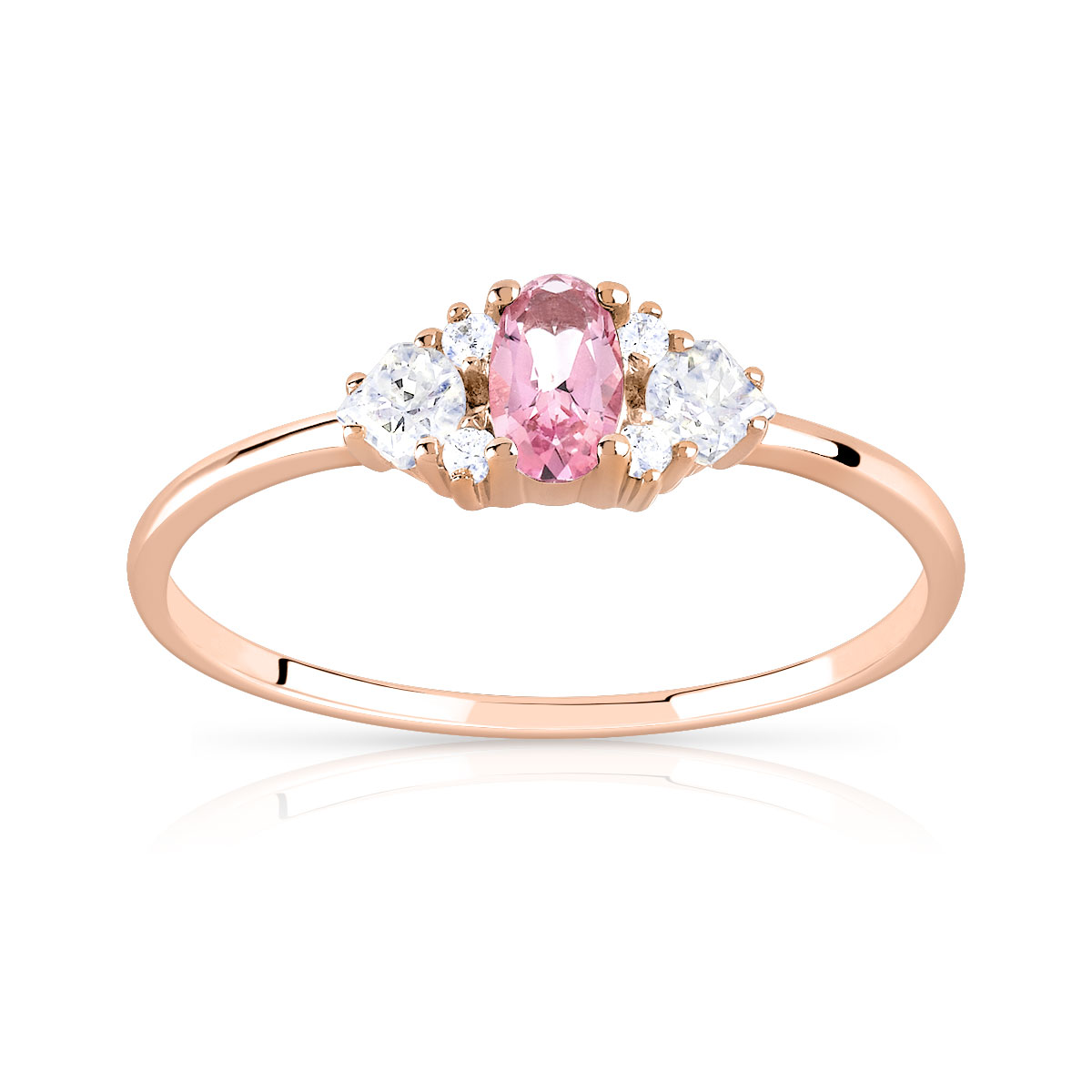 bague or topaze rose