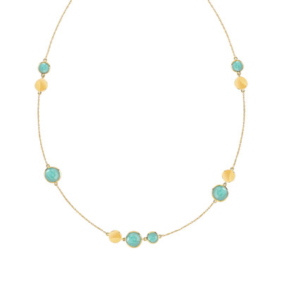 Collier or 375 jaune Amazonite - vue V1